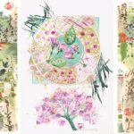 3 watercolour paintings with Japanese paper - Birnam Arts Christmas Market -  Open now